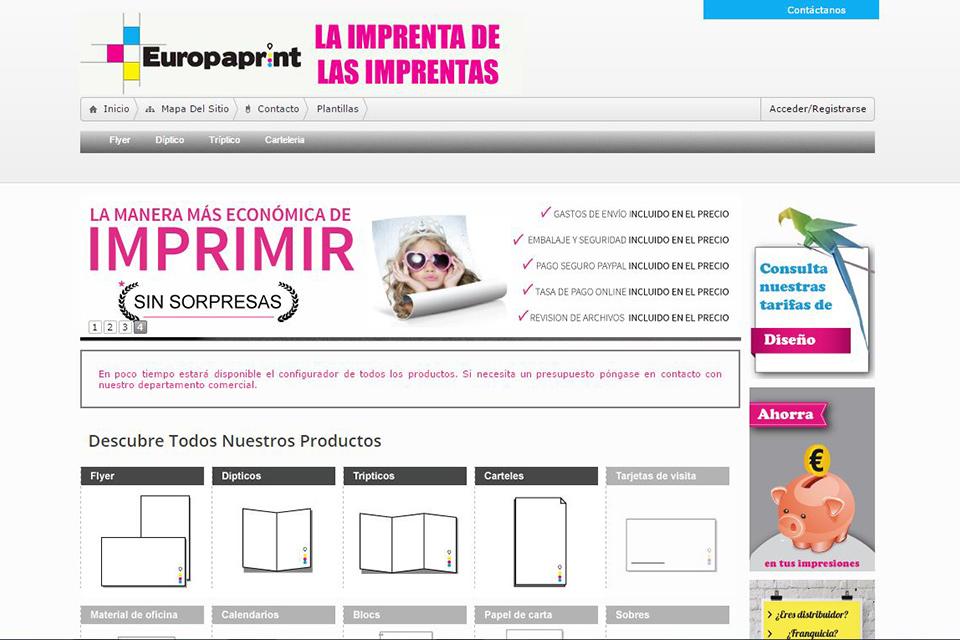 Imprenta Online Europaprint